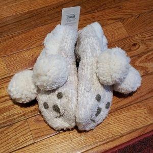 Lemon fuzzy slippers nwt size 8